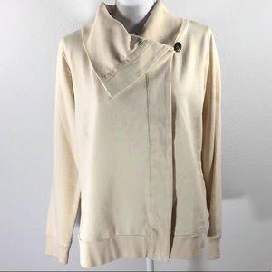 Lucky Brand Knit Wear Ivory Cream Sweatshirt M